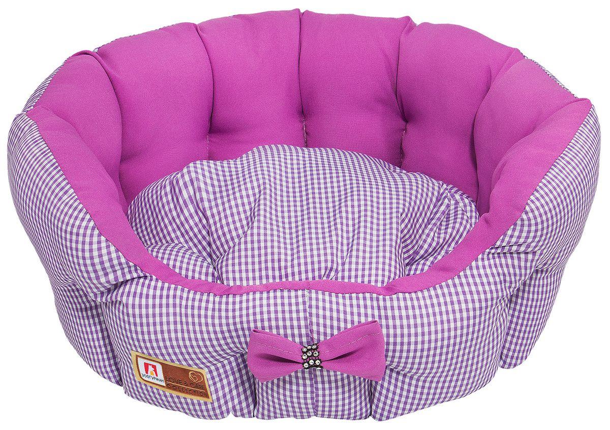 Лежак для собак и кошек Зоогурман Каприз, цвет: розовый, диаметр 45 см0120710Мягкий и уютный лежак для кошек и собак Зоогурман Каприз обязательно понравится вашему питомцу. Лежак выполнен из нежного, приятного материала. Внутри - мягкий наполнитель, который не теряет своей формы долгое время.Внутри лежака теплый, съемный матрасик. Высокие борта лежака обеспечат вашему любимцу уют и комфорт. За изделием легко ухаживать, можно стирать вручную или в стиральной машине при температуре 40°С. Материал: микроволоконная шерстяная ткань.Наполнитель: гипоаллергенное синтетическое волокно. Наполнитель матрасика: шерсть.Диаметр: 45 см.Внутренний диаметр: 33 см.Высота бортиков: 18 см.