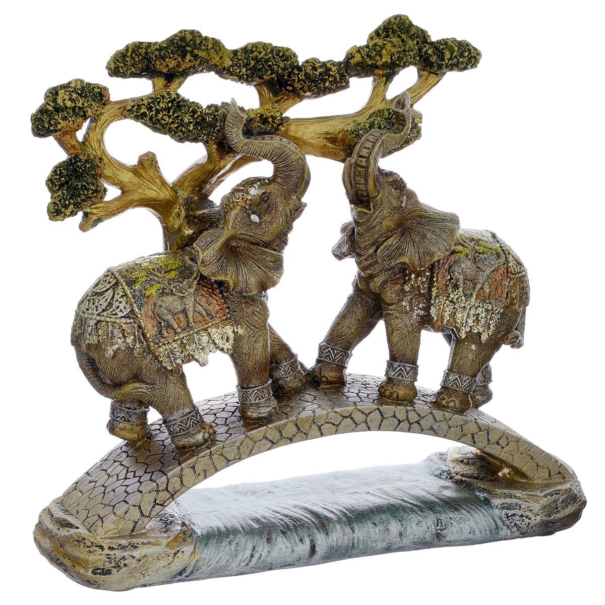 Фигурка декоративная Molento Слоны на мосту, высота 20,5 см вышивка на аничковом мосту