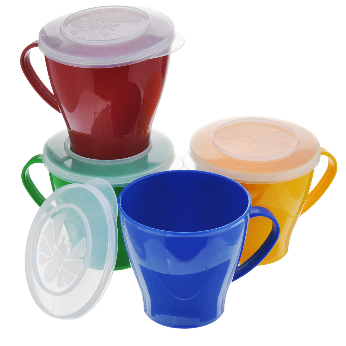Набор чашек Solaris, 0,36 л, 4 шт посуда для микроволновой печи ruges кастрюля для микроволновки лок