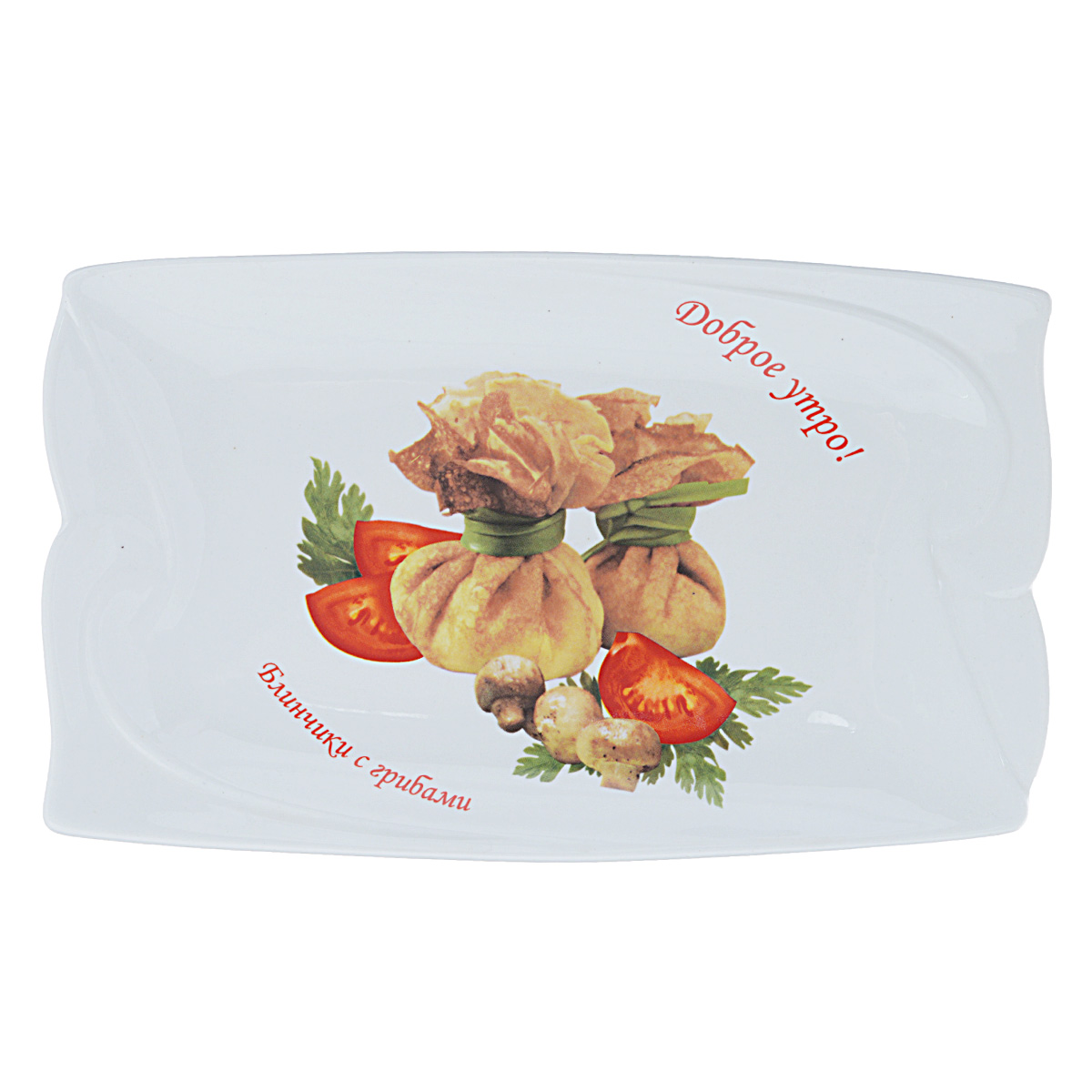 Блюдо LarangE Блинчики с грибами, цвет: белый, 24,5 х 15 см115010Блюдо LarangE Блинчики с грибами изготовлено из высококачественной керамики. Изделие украшено изображением блинчиков.Пусть ваше утро начинается с незабываемого завтрака!Можно использовать в СВЧ печах, духовом шкафу и холодильнике. Не применять абразивные чистящие вещества.Размер блюда: 24,5 см х 15 см х 1,5 см.