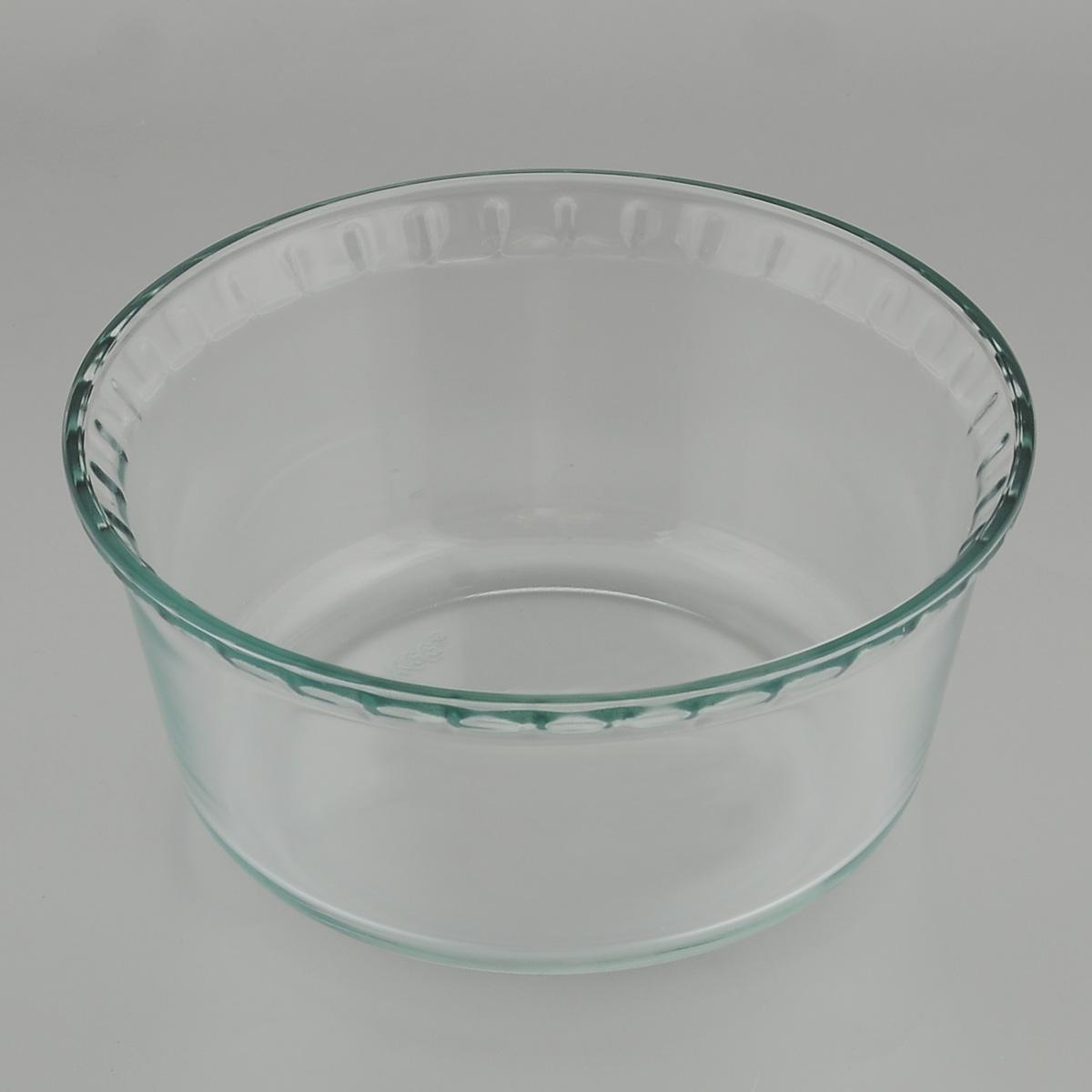 Форма для запекания Mijotex, круглая, диаметр 21 см391602Глубокая круглая форма для запекания Mijotex изготовлена из жаропрочного стекла, которое выдерживает температуру до +450°С. Форма предназначена для приготовления горячих блюд. Материал изделия гигиеничен, прост в уходе и обладает высокой степенью прочности. Форма идеально подходит для использования в духовках, микроволновых печах, холодильниках и морозильных камерах. Также ее можно использовать на газовых плитах (на слабом огне) и на электроплитах. Можно мыть в посудомоечной машине.Диаметр формы: 21 см.Высота стенки формы: 10 см.