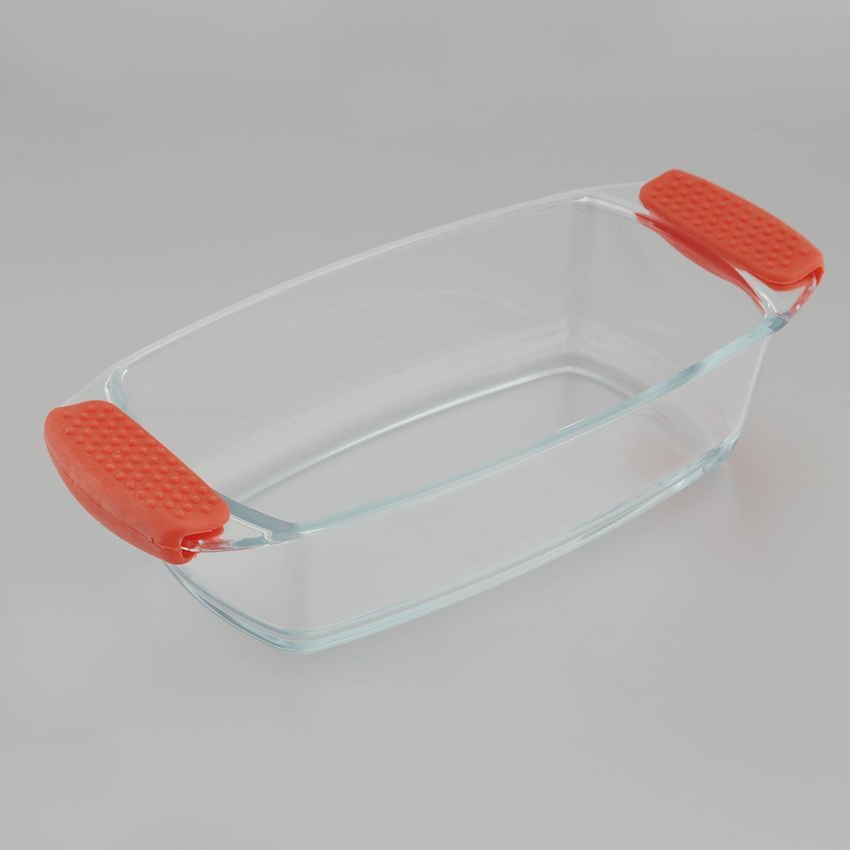 Форма для запекания Mijotex, прямоугольная, 30 х 14 х 7 см300180_синийПрямоугольная форма для запекания Mijotex изготовлена из жаропрочного стекла, которое выдерживает температуру до +450°С. Форма предназначена для приготовления горячих блюд. Оснащена двумя ненагревающимися ручками с силиконовыми вставками. Материал изделия гигиеничен, прост в уходе и обладает высокой степенью прочности. Форма идеально подходит для использования в духовках, микроволновых печах, холодильниках и морозильных камерах. Также ее можно использовать на газовых плитах (на слабом огне) и на электроплитах. Можно мыть в посудомоечной машине.Внутренний размер формы: 23,5 х 13 см.Внешний размер формы (с учетом ручек): 30 х 14 см. Высота стенки формы: 7 см.