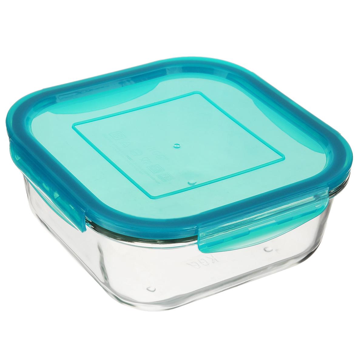 Форма для запекания Mijotex с крышкой, квадратная, цвет: голубой, 18 х 18 см391602Квадратная форма для запекания Mijotex изготовлена из жаропрочного стекла, которое выдерживает температуру до +450°С. Форма предназначена для приготовления горячих блюд. Оснащена герметичной пластиковой крышкой с силиконовым уплотнителем для хранения продуктов. Материал изделия гигиеничен, прост в уходе и обладает высокой степенью прочности. Форма (без крышки) идеально подходит для использования в духовках, микроволновых печах, холодильниках и морозильных камерах. Также ее можно использовать на газовых плитах (на слабом огне) и на электроплитах. Можно мыть в посудомоечной машине.Размер формы (по верхнему краю): 18 см х 18 см.Высота стенки формы: 7 см.