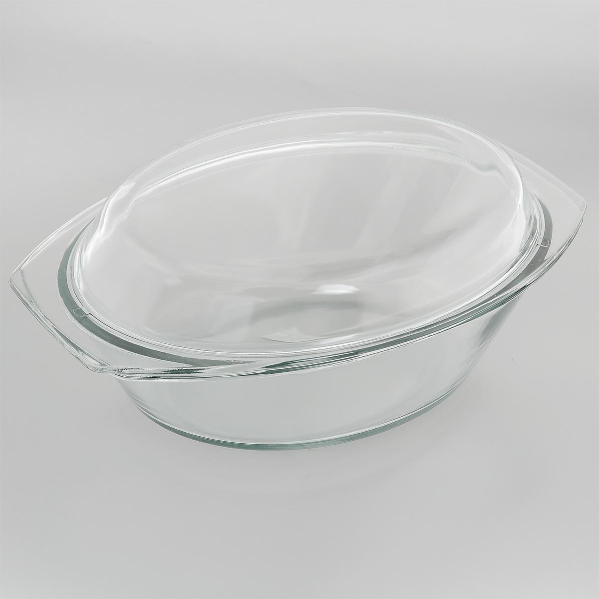 Утятница Mijotex с крышкой, 3 л94672Утятница Mijotex выполнена из жаропрочного стекла. Форма не вступает в реакцию с готовящейся пищей, а потому не выделяет никаких вредных веществ, не подвергается воздействию кислот и солей. Стеклянная посуда очень удобна для приготовления и подачи самых разнообразных блюд. Стекло выдерживает температуру от - 40°C до +400°C. Благодаря прозрачности стекла, за едой можно наблюдать при ее приготовлении, еду можно видеть при подаче, хранении. Используя эту форму, вы можете, как приготовить пищу, так и изящно подать ее к столу, не меняя посуды. Крышка выполнена из стекла и может быть использована также отдельно для приготовления и подачи различных блюд.Форма может быть использована в духовке, микроволновой печи и морозильной камере. Можно мыть в посудомоечной машине.Размер утятницы: 34 см х 20,5 см х 9 см.Размер крышки: 35 см х 21 см х 4,5 см.Высота утятницы (с учетом крышки): 13 см.