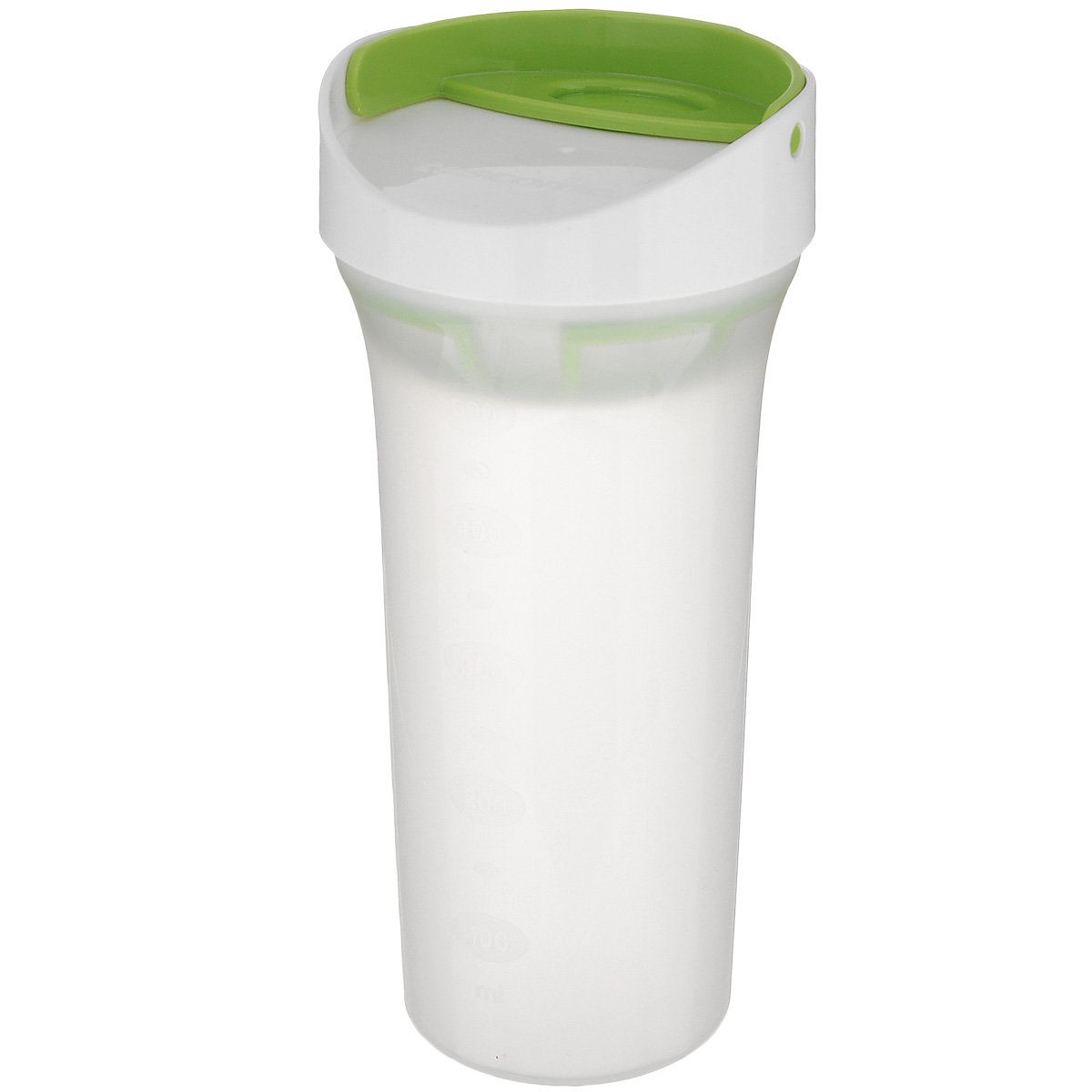 Шейкер универсальный Tescoma Presto, 500 мл25.72.10Универсальный шейкер Tescoma Presto отлично подходит для быстрого приготовления и сервировки свежих салатных заправок, фруктовых и молочных коктейлей, пены кофе и т.д. Шейкер оснащен универсальным ситечком для смешивания и аэрации. Внешние стенки имеют шкалу литража. Крышка плотно закрывается благодаря уплотненной заглушке. Шейкер изготовлен из превосходной прочной пластмассы. Подходит для холодильников и посудомоечных машин. Диаметр шейкера (по верхнему краю): 9 см. Высота шейкера: 20 см.