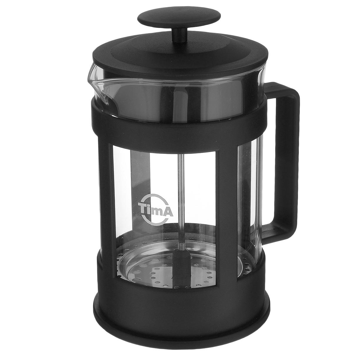 Френч-пресс TimA Марципан, 800 млFM-800Френч-пресс TimA Марципан, изготовленный из жаропрочного стекла и высококачественного пластика, это совершенный чайник для ежедневного использования. Изделие с плотной крышкой и удобной ручкой имеет специальный поршень с фильтром из нержавеющей стали для отделения чайных листьев от воды. После заваривания чая фильтр не надо вынимать.Заваривание чая - это приятное и легкое занятие. Френч-пресс TimA Марципан займет достойное место на вашей кухне. Нельзя мыть в посудомоечной машине.Объем: 800 мл.Диаметр (по верхнему краю): 9,5 см.Высота (без учета крышки): 16 см.