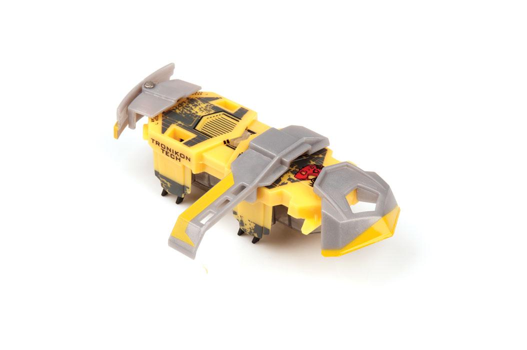 Микро-робот Hexbug Warriors. Tronikon, цвет: желтый. S1-1В hexbug игровой набор с микро роботами нано v2 ланчпад neon