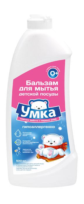 Средство для мытья детской посуды Умка, 500 мл870152Средство для мытья детской посуды Умка предназначено для мытья детской посуды и принадлежностей вашего малыша с первых дней жизни. Подходит для мытья бутылочек, сосок, детских игрушек. Эффективно справляет с загрязнениями даже в холодной воде. Полностью смывается водой, не оставляя следов и запахов на посуде. Содержит антибактериальные компоненты. Ухаживает за кожей рук, не вызывает аллергии. Обладает высокой моющей способностью при пониженном пенообразовании. Состав: 30% вода очищенная. Товар сертифицирован. Уважаемые клиенты!Обращаем ваше внимание на возможные изменения в дизайне упаковки. Качественные характеристики товара остаются неизменными. Поставка осуществляется в зависимости от наличия на складе.