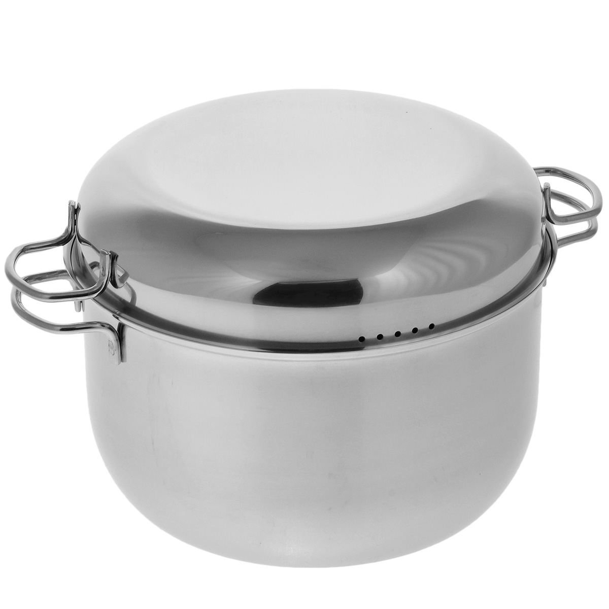 Мантоварка АМЕТ Классика с крышкой, 3 яруса, 7 л54 009312Мантоварка АМЕТ Классика предназначена для приготовления диетических блюд на пару, в частности - мантов. Изделие гигиенично и безопасно для здоровья. Нержавеющая сталь обладает малой теплопроводностью, поэтому посуда из нее остывает гораздо медленнее, чем любой другой вид посуды, а значит, приготовленное в ней более длительное время остается горячим. Мантоварка укомплектована тремя решетками с ручками из нержавеющей стали на ножках и крышкой. Крышка плотно прилегает к краю мантоварки, сохраняя аромат блюд. Крышка оснащена двумя удобными ручками и отверстиями для выпуска пара. Подходит для газовых и электрических плит. Можно мыть в посудомоечной машине. Высота стенки: 15,5 см. Толщина стенки: 0,3 см. Толщина дна: 0,3 см. Ширина с учетом ручек: 34,5 см. Диаметр решетки: 25 см. Высота мантоварки (с учетом крышки): 21 см.