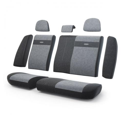 Авточехлы Autoprofi Трансформер, велюр, цвет: черный, темно-серый, 13 предметовCOM-1105 BK/BL (M)Чехлы Autoprofi Трансформер - новая модель автомобильных чехлов. Главной особенностью их стала модульная конструкция, благодаря которой можно укомплектовать 5-, 7- или 8-местный автомобиль. Запатентованная конструкция чехлов с молниями и торцевыми клапанами позволит их адаптировать в автомобилях с любым кузовом - седана, минивена, кроссовера, внедорожника или универсала. Приэтом специальные клапаны закрывают торцы спинок и подлокотников, позволяя их складывать иобеспечивая плотное прилегание даже на нестандартных креслах.Немаловажно, что данная серия чехлов на автомобильное сиденье оснащена распускаемым боковым швом, что позволяет их использовать в автомобилях с боковой подушкой безопасности. Выполнены из велюра. Из прежних наработок, полюбившихся автомобилистам, в данных чехлах сохранилось крепление крючками и липучками, которые прочно фиксируют чехлы на сиденье. Чехлы для переднего ряда серии Трансформер сочетаются со всеми чехлами заднего ряда этой серии.Особенности:Карманы в спинках передних сидений.Предустановленные крючки на широких резинках.Боковая поддержка спины.Молнии в спинке и сиденье заднего ряда: 8. Толщина поролона: 5 мм.Комплектация: 3 подголовника, 1 спинка заднего ряда, 1 сиденье заднего ряда, 6 клапанов спинки, 2 клапана сиденья.