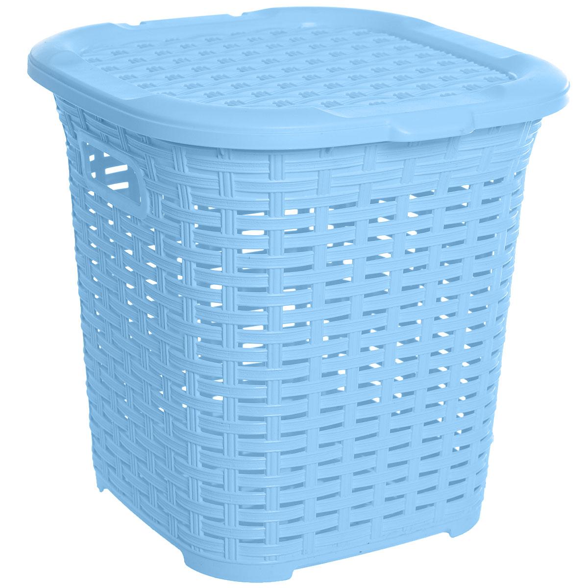 Корзина многофункциональная Dunya Plastik Раттан, цвет: голубой, 15 лCLP446Многофункциональная корзина Dunya Plastik Раттан изготовлена из прочного пластика. Она отлично подойдет для хранения белья перед стиркой и различных бытовых вещей. В ней также удобно хранить овощи: картошку, лук и т.д. Корзина плетеная, что создает идеальные условия для проветривания. Дно сплошное. Изделие оснащено двумя ручками и крышкой. Такая корзина прекрасно впишется в интерьер ванной комнаты или кухни.