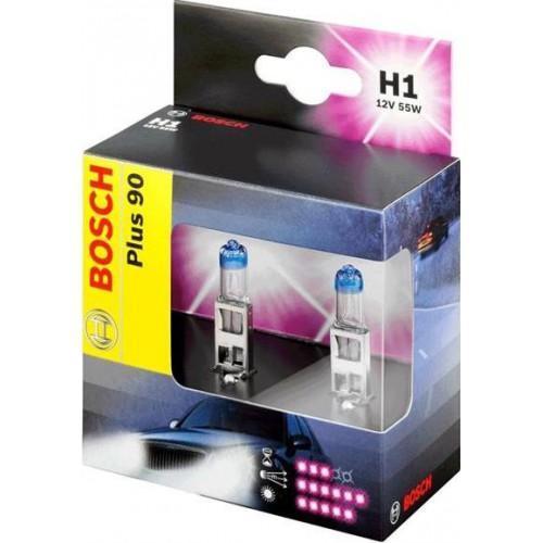 Лампа Bosch H1+90 2 шт 198730107310503Новые лампы Bosch для галогенных фар освещают дорогу интенсивным белым светом, который очень близок по свойствам к дневному освещению.Благодаря этому глаза водителя не теряют фокусировки и меньше устают даже во время долгих поездок в темное время суток. Новые лампы отличаются высокой яркостью и могут давать до 50% больше света, чем стандартные галогенные фары. Лампы Bosch доступны в вариантах H1, H4 и H7. Серебряное покрытие ламп H4 и H7 делает их едва заметными за стеклами выключенных фар. Новые лампы выглядят наиболее эффектно в сочетании с фарами из прозрачного стекла и подчеркивают современный дизайн автомобилей. Увеличенная яркость и дальность освещения положительно сказывается на безопасности движения. В темное время суток или в сложных погодных условиях, таких как ливень или густой туман, водитель замечает опасную ситуацию намного раньше и на большем расстоянии, при этом лучше заметен и сам автомобиль с фарами Bosch. Напряжение: 12 вольт