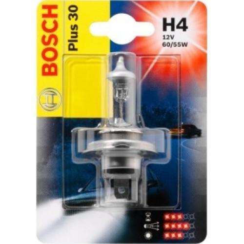 Лампа Bosch Plus 30 H4 12V 1987301002PANTERA SPX-2RSНовые лампы Bosch для галогенных фар освещают дорогу интенсивным белым светом, который очень близок по свойствам к дневному освещению.Благодаря этому глаза водителя не теряют фокусировки и меньше устают даже во время долгих поездок в темное время суток. Новые лампы отличаются высокой яркостью и могут давать до 50% больше света, чем стандартные галогенные фары. Лампы Bosch доступны в вариантах H1, H4 и H7. Серебряное покрытие ламп H4 и H7 делает их едва заметными за стеклами выключенных фар. Новые лампы выглядят наиболее эффектно в сочетании с фарами из прозрачного стекла и подчеркивают современный дизайн автомобилей. Увеличенная яркость и дальность освещения положительно сказывается на безопасности движения. В темное время суток или в сложных погодных условиях, таких как ливень или густой туман, водитель замечает опасную ситуацию намного раньше и на большем расстоянии, при этом лучше заметен и сам автомобиль с фарами Bosch. Напряжение: 12 вольт