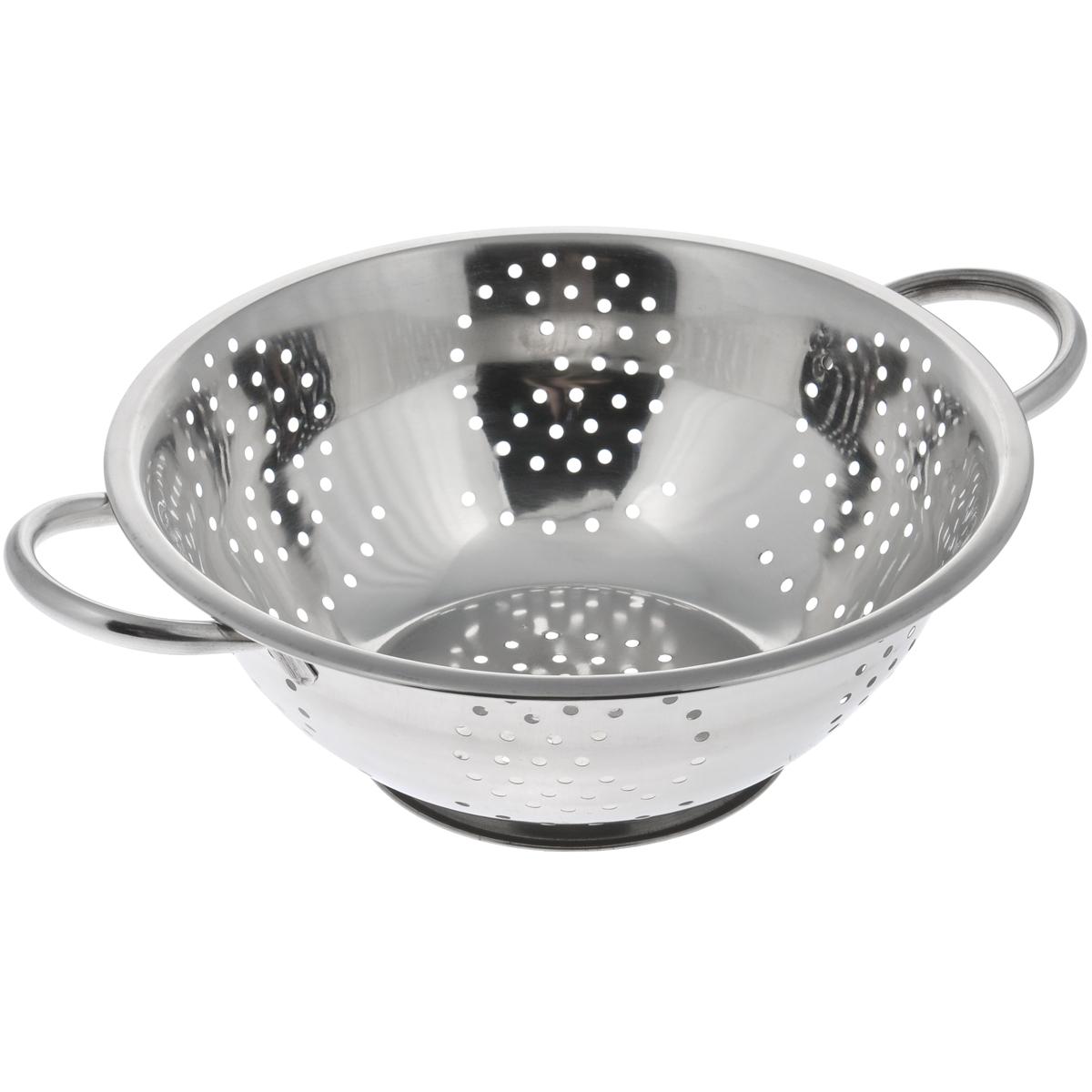 Дуршлаг Padia, диаметр 28 см115510Дуршлаг Padia, изготовленный из высококачественной нержавеющей стали, станет полезным приобретением для вашей кухни. Он идеально подходит для процеживания, ополаскивания и стекания макарон, овощей, фруктов. Дуршлаг оснащен устойчивым основанием и удобными ручками по бокам.Диаметр дуршлага (без учета ручек): 28 см.Внутренний диаметр: 25,5 см.Длина дуршлага (с учетом ручек): 34,5 см.Высота стенки дуршлага: 10 см.