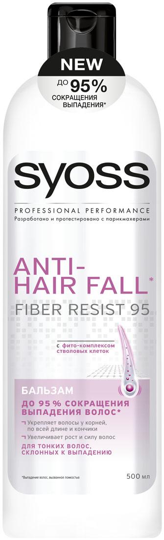 SYOSS Бальзам Anti-hair fall , 500мл9034291До 95 % СОКРАЩЕНИЯ ВЫПАДЕНИЯ ВОЛОС, вызванного ломкостью. Формула с фито-комплексом стволовых клеток: 1) Действует непосредственнона корни волос 2) Укрепляет волосы по всей длине до самых кончиков 3) Легкое расчесывание & длинные, крепкие волосы