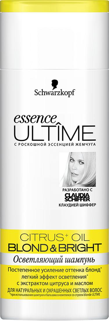 ESSENCE ULTIME Шампунь Blond &Bright, 250 млFS-00897Осветляющий уход для натуральных и окрашенных светлых волос.- постепенное усиление оттенка блонд - легкий эффект осветления- для сияния и фееричного блеска волос