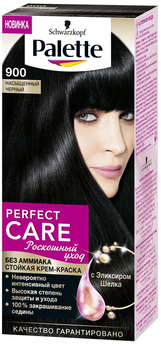 Palette PCC Крем-краска оттенок 900 Насыщенный Черный, 110 мл93935019Мечтаете об ухоженных волосах и невероятной интенсивности цвета? Теперь мечту можно воплотить в жизнь с НОВИНКОЙ Palette Perfect Care с Эликсиром Шелка! Мягкая формула окрашивающего крема БЕЗ АММИАКА придаст волосам шелковистость и невероятный блеск. Инновационная технология многослойного окрашивания создает множество слоев цвета и активируется при каждом мытье волос, заменяя верхний слой последующим для потрясающего блеска. Результат: стойкий сияющий цвет, как будто сразу после окрашивания.