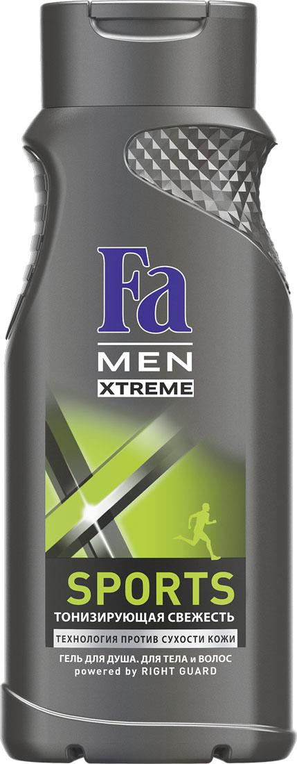 FA MEN Xtreme Гель для душа Sports, 250 млFS-00897Испытай ощущение экстремальной свежести Fa MEN Sports, идеально после занятий спортом. Инновационная технология Против Сухости Кожи придает свежесть и увлажняет кожу, предотвращая ощущение сухости.Тонизирующий аромат для максимального эффекта свежести.Подходит для тела и волос.Хорошая переносимость кожей подтверждена дерматологами. Также откройте для себя антиперспиранты Fa MEN Xtreme для экстремальной защиты 72ч.