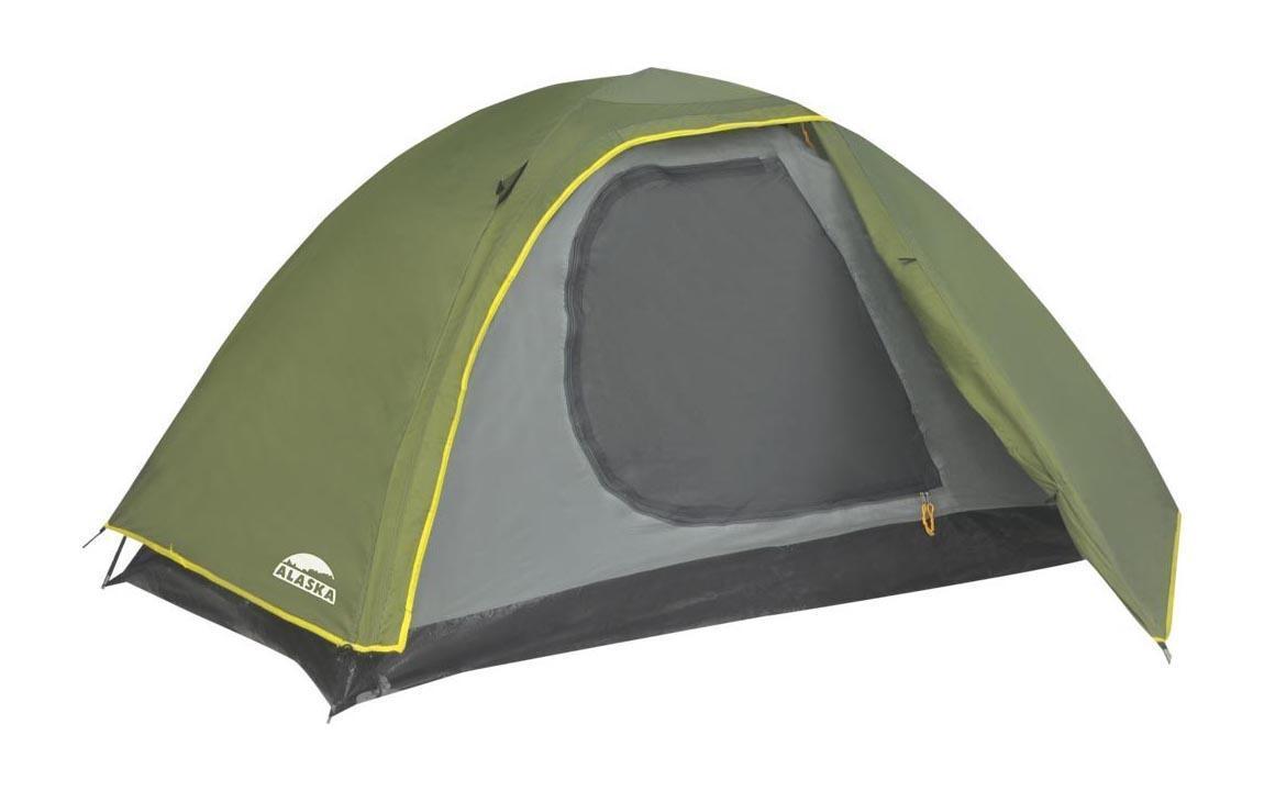 Палатка ALASKA Трек 2, цвет: олива. 260806122.3401Легкая двухслойная палатка для молодежи - идеально подойдет для путешественников, делающих первые шаги по освоению российских просторов.Двухслойная палатка с внутренним каркасом позволяет использовать в жаркую погоду внутреннюю палатку без тента. Внешний тент, имеющий небольшой тамбур, обеспечит защиту от непогоды.Ткань тента: Poly Taffeta 190T PU 2000. Ткань палатки: Poly Taffeta 180T. Ткань дна: Tarpauling (армированный полиэтилен). Дуги:Fiberglass 7,9 мм.Вместимость: 2 человека.