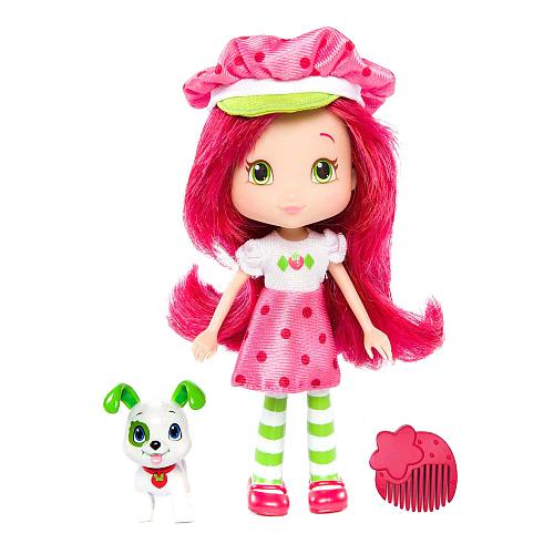 Шарлотта Земляничка Кукла Земляничка, с питомцем и аксессуаром, 15 см шарлотта земляничка мини кукла земляничка с сумкой