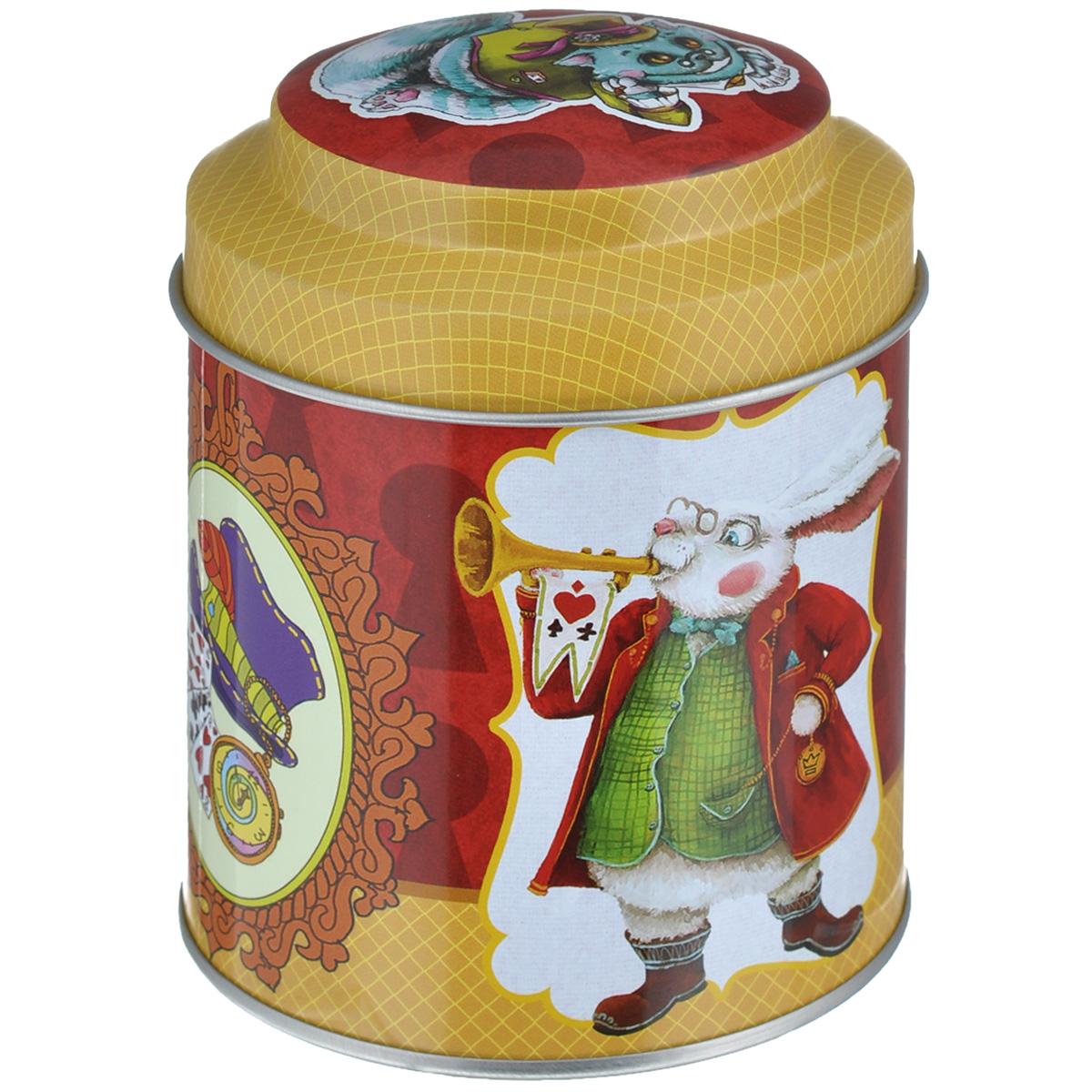 Банка для сыпучих продуктов Феникс-презент Кролик, 680 мл37651Банка для сыпучих продуктов Феникс-презент Кролик, изготовленная из окрашенного черного металла, оформлена ярким рисунком. Банка прекрасно подойдет для хранения различных сыпучих продуктов: специй, чая, кофе, сахара, круп и многого другого. Емкость плотно закрывается крышкой. Благодаря этому она будет дольше сохранять свежесть ваших продуктов.Функциональная и вместительная, такая банка станет незаменимым аксессуаром на любой кухне. Нельзя мыть в посудомоечной машине.Объем банки: 680 мл.Высота банки (без учета крышки): 10 см. Диаметр банки (по верхнему краю): 9 см.
