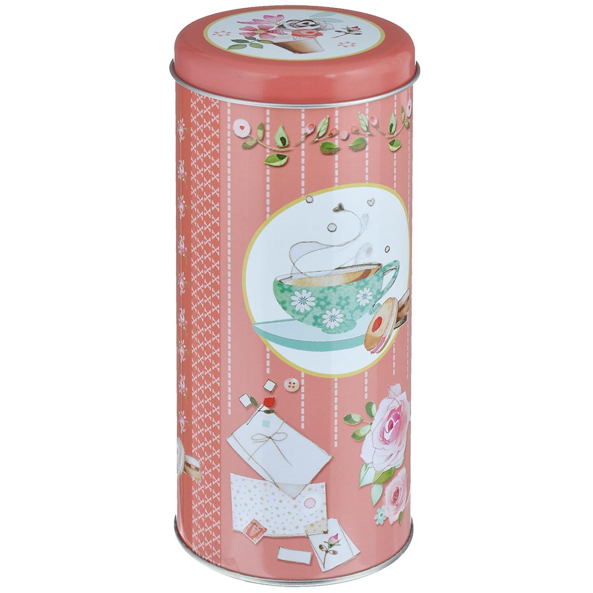 Банка для сыпучих продуктов Феникс-презент Ромашковый чай, 800 млVT-1520(SR)Банка для сыпучих продуктов Феникс-презент Ромашковый чай, изготовленная из окрашенного черного металла, оформлена ярким рисунком. Банка прекрасно подойдет для хранения различных сыпучих продуктов: специй, чая, кофе, сахара, круп и многого другого. Емкость плотно закрывается крышкой. Благодаря этому она будет дольше сохранять свежесть ваших продуктов.Функциональная и вместительная, такая банка станет незаменимым аксессуаром на любой кухне. Нельзя мыть в посудомоечной машине.Объем банки: 800 мл.Высота банки (без учета крышки): 17,5 см. Диаметр банки (по верхнему краю): 7,5 см.