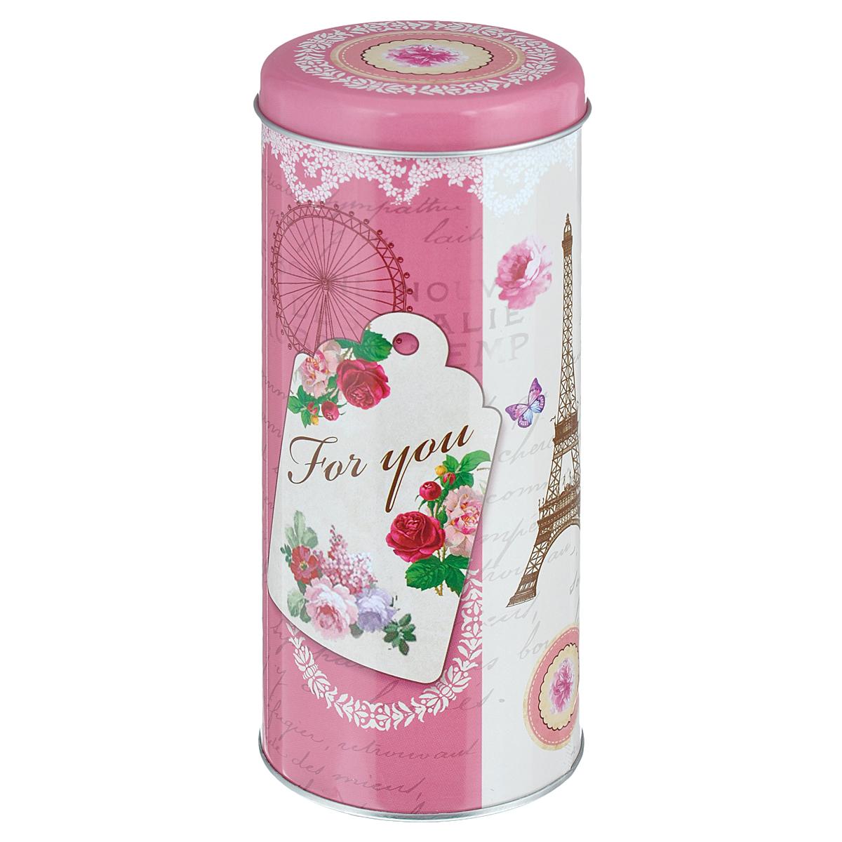 Банка для сыпучих продуктов Феникс-презент Любовное послание, 800 млVT-1520(SR)Банка для сыпучих продуктов Феникс-презент Любовное послание, изготовленная из окрашенного черного металла, оформлена ярким рисунком. Банка прекрасно подойдет для хранения различных сыпучих продуктов: специй, чая, кофе, сахара, круп и многого другого. Емкость плотно закрывается крышкой. Благодаря этому она будет дольше сохранять свежесть ваших продуктов.Функциональная и вместительная, такая банка станет незаменимым аксессуаром на любой кухне. Нельзя мыть в посудомоечной машине.Объем банки: 800 мл.Высота банки (без учета крышки): 17,5 см. Диаметр банки (по верхнему краю): 7,5 см.