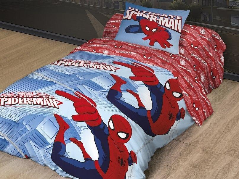Комплект белья Spider Man Великий 1,5 сп96515412Лицензионное постельное белье, выполненное из натуральных природных материалов. Привнесет в спальню ребенка массу новых красок и незабываемых впечатлений. Самые популярные франшизы *Уникальная структура ткани с высокими потребительскими свойствами. РАНФОРС – 100% хлопковая ткань *Привлекательная упаковка, позволяющая быть великолепным подарочным вариантом. *Высокое качество пошива. Ручной подбор раппорта для сохранения целостности героя.