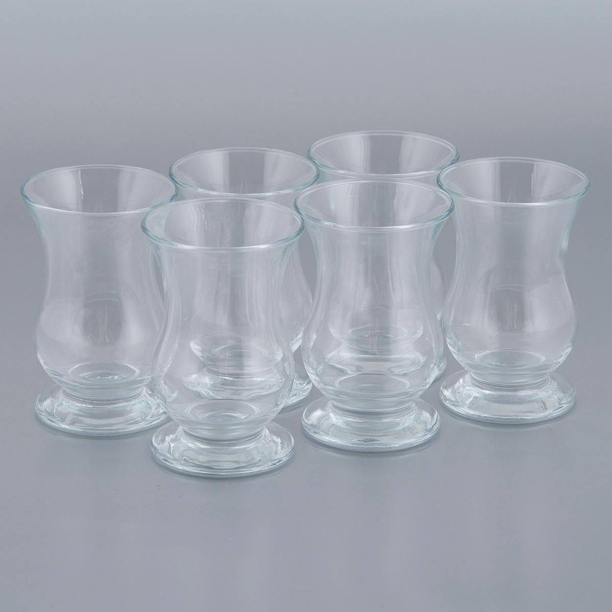 Набор стаканов Pasabahce Pera, 95 мл, 6 штVT-1520(SR)Набор Pasabahce Pera состоит из 6 стаканов, выполненных из прочного натрий-кальций-силикатного стекла, которое выдерживает нагрев до 70°С. Стильный лаконичный дизайн, роскошный внешний вид и несравненное качество сделают их великолепным украшением стола. Подходят для мытья в посудомоечной машине. Можно использовать в микроволновой печи и для хранения пищи в холодильнике. Диаметр (по верхнему краю): 5,5 см. Высота стакана: 8,5 см.