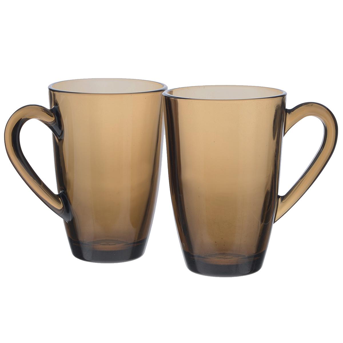 Набор кружек Pasabahce Bronze, 325 мл, 2 шт115510Набор Pasabahce Bronze состоит из двух кружек с удобными ручками, выполненных из закаленного натрий-кальций-силикатного стекла. Изделия хорошо удерживают тепло, не нагреваются. Функциональность, практичность и стильный дизайн сделают набор прекрасным дополнением к вашей коллекции посуды. Можно мыть в посудомоечных машинах и использовать в микроволновых печах.Диаметр кружки по верхнему краю: 7,5 см. Высота кружки: 11,5 см.Объем: 325 мл.