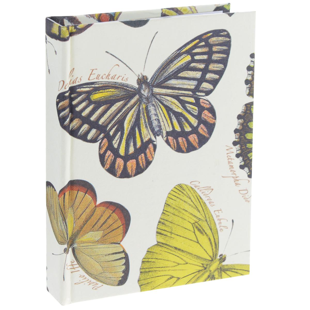 Блокнот Власта Артбук. Бабочки, 7,5 х 10 см, 150 листов72523WDБлокнот Власта Артбук. Бабочки с отрывными листами предназначен для набросков и записей. Жесткая картонная обложка украшена изображением бабочек. Блок содержит 150 белых листов без разметок размера 7,5 х 10 см с логотипом Artbook.Такой блокнот удобен тем, что может легко умещаться в дамской сумочке и в барсетке. Жесткая (книжная) обложка предохраняет листы от порчи и замятия.Общий размер блокнота: 8 х 10,5 см. Количество листов: 150.Размер листов: 7,5 х 10 см.