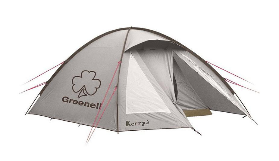 GREENELL Палатка Керри 2 V3, цвет: коричневый. Арт.9551195282-303-00Наличие внешних дуг позволяет сохранять внутреннюю палатку сухой, при установке во время дождя. Увеличенный тамбур с прозрачными окнами, противомоскитная сетка, все швы проклеены. Тент можно устанавливать отдельно. Новая верхняя ткань со специальной пропиткой защищает от ультрафиолета до 90% (UPF 50+) и препятствует распространению огня.