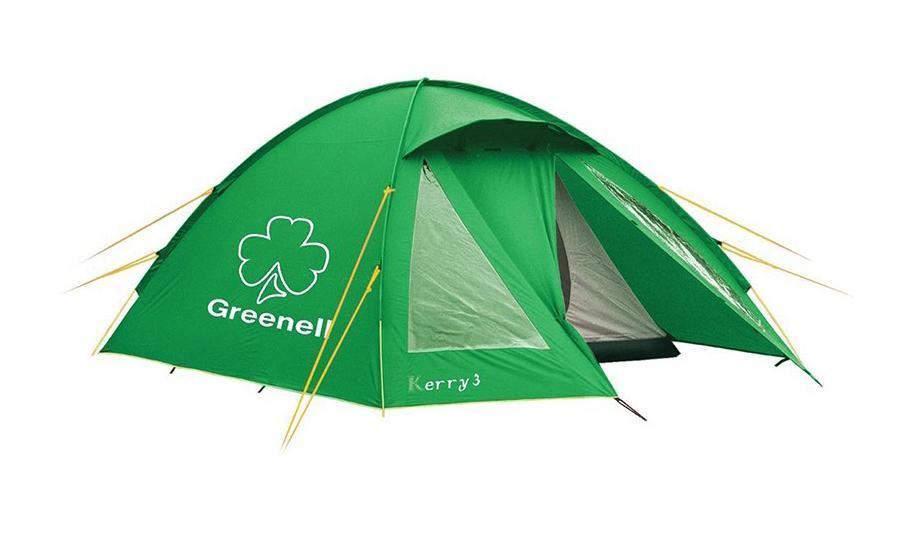 GREENELL Палатка Керри 2 V3, цвет: зеленый. Арт.9551195511-367-00Наличие внешних дуг позволяет сохранять внутреннюю палатку сухой, при установке во время дождя. Увеличенный тамбур с прозрачными окнами, противомоскитная сетка, все швы проклеены. Тент можно устанавливать отдельно. Новая верхняя ткань со специальной пропиткой защищает от ультрафиолета до 90% (UPF 50+) и препятствует распространению огня.