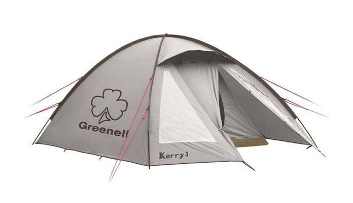 GREENELL Палатка Керри 4 V3, цвет: коричневый. Арт.9551367742Оптимальное соотношение вес/комфорт/цена. Наличие внешних дуг позволит сохранить внутреннюю палатку сухой, при установке во время дождя. Увеличенный тамбур с прозрачными окнами, противомоскитная сетка, все швы проклеены. Возможна отдельная установка тента. Новая верхняя ткань со специальной пропиткой защищает от ультрафиолета до 90% (UPF 50+) и препятствует распространению огня.
