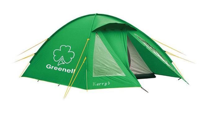 GREENELL Палатка Керри 4 V3, цвет: зеленый. Арт.9551395283-303-00Оптимальное соотношение вес/комфорт/цена. Наличие внешних дуг позволит сохранить внутреннюю палатку сухой, при установке во время дождя. Увеличенный тамбур с прозрачными окнами, противомоскитная сетка, все швы проклеены. Возможна отдельная установка тента. Новая верхняя ткань со специальной пропиткой защищает от ультрафиолета до 90% (UPF 50+) и препятствует распространению огня.