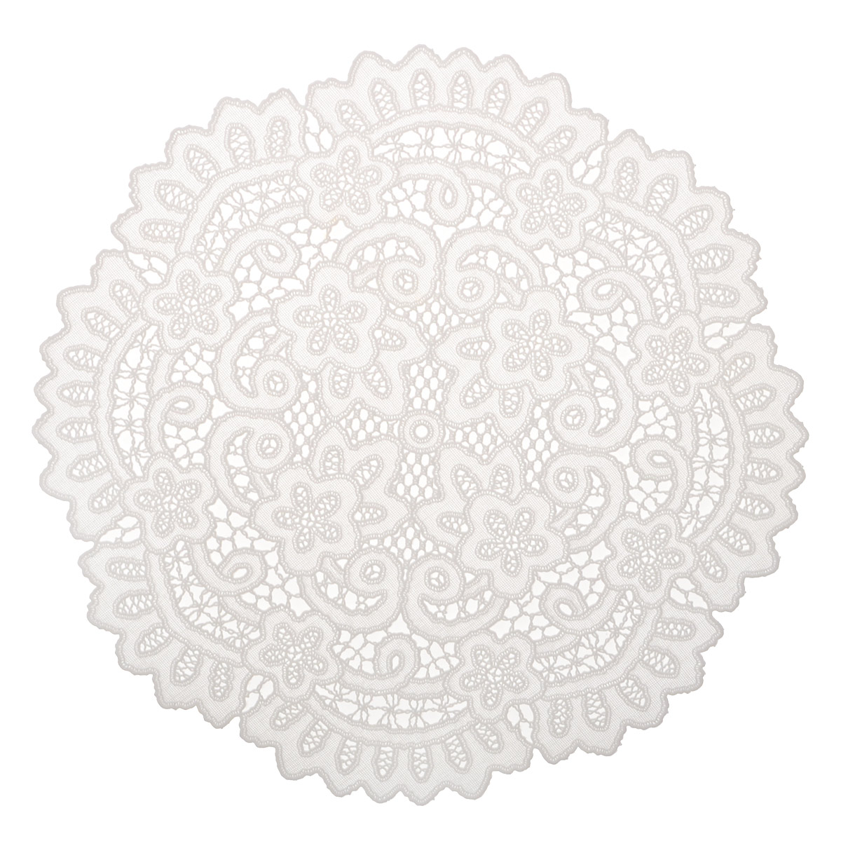 Набор декоративных салфеток Ажурные, 6 шт, диаметр 30 см. 811-122