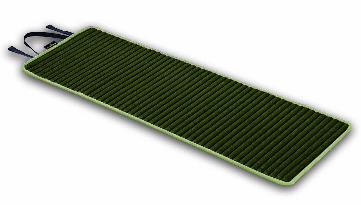 Коврик для аэробики Ecowellness, с ручкой, цвет: зеленый, 152,4 см х 56 см. QB-8500EN-BSF 0064Коврик для аэробики Ecowellness сделает ваши занятия спортом комфортными и приятными. Высокопрочная прокладка из вспененного материала, покрытая мягкой тканью (полиэстером). Прекрасно подходит для занятий йогой, пилатесом, аэробикой. Изделие оснащено текстильной ручкой для удобной переноски. Легко моется и чистится, нескользящая поверхность обеспечивает комфорт и эффективность тренировок. Удобен в хранении, очень компактен в скрученном состоянии.
