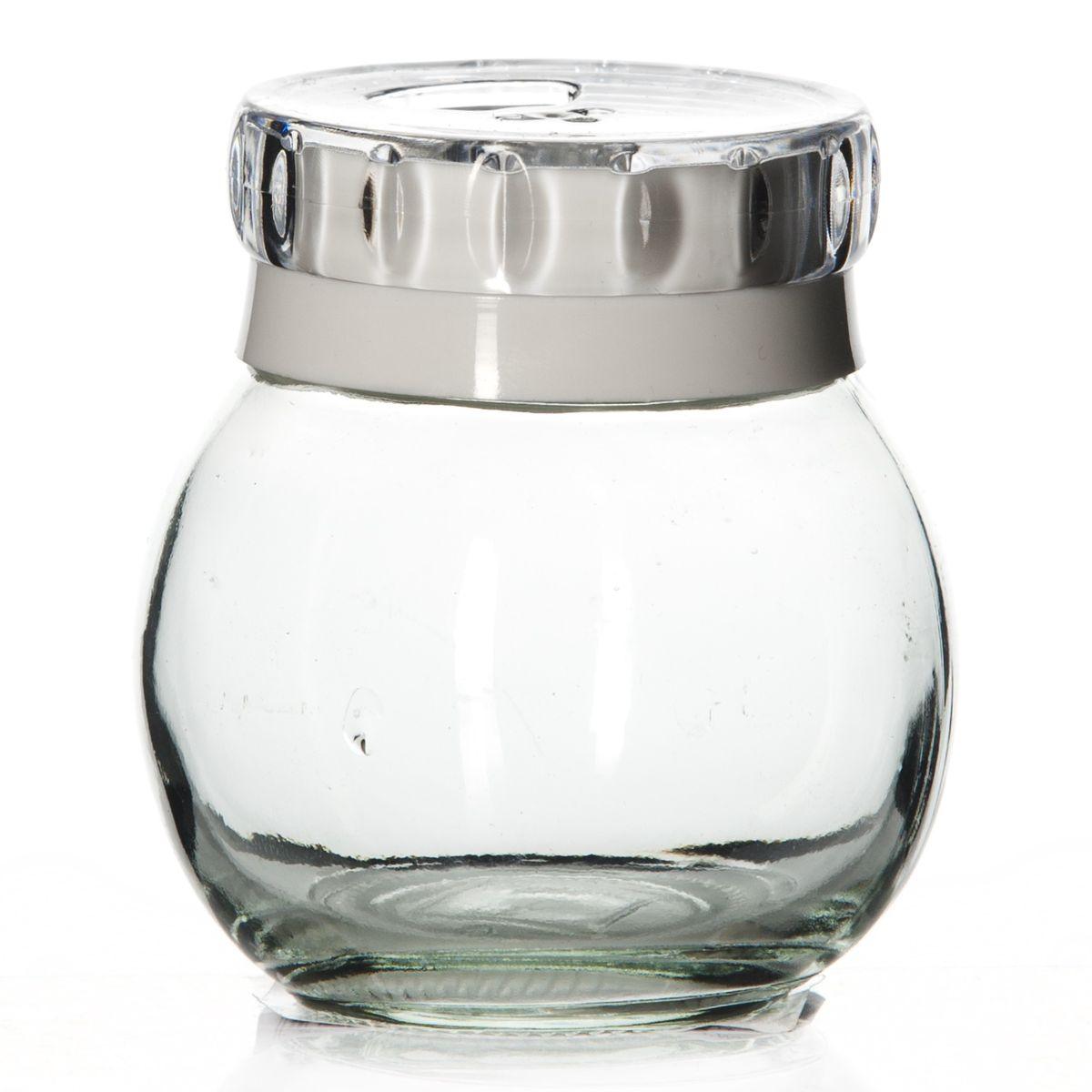 Банка для специй Herevin, цвет: белый, 200 мл. 131007-8024630003364517Банка для специй Herevin выполнена из прозрачного стекла и оснащена пластиковой цветной крышкой с отверстиями разного размера, благодаря которым, вы сможете приправить блюда, просто перевернув банку. Крышка снабжена поворотным механизмом, благодаря которому вы сможете регулировать степень подачи специй. Крышка легко откручивается, благодаря чему засыпать специи внутрь очень просто. Такая баночка станет достойным дополнением к вашему кухонному инвентарю. Можно мыть в посудомоечной машине.Диаметр (по верхнему краю): 4 см.Высота банки (без учета крышки): 8 см.