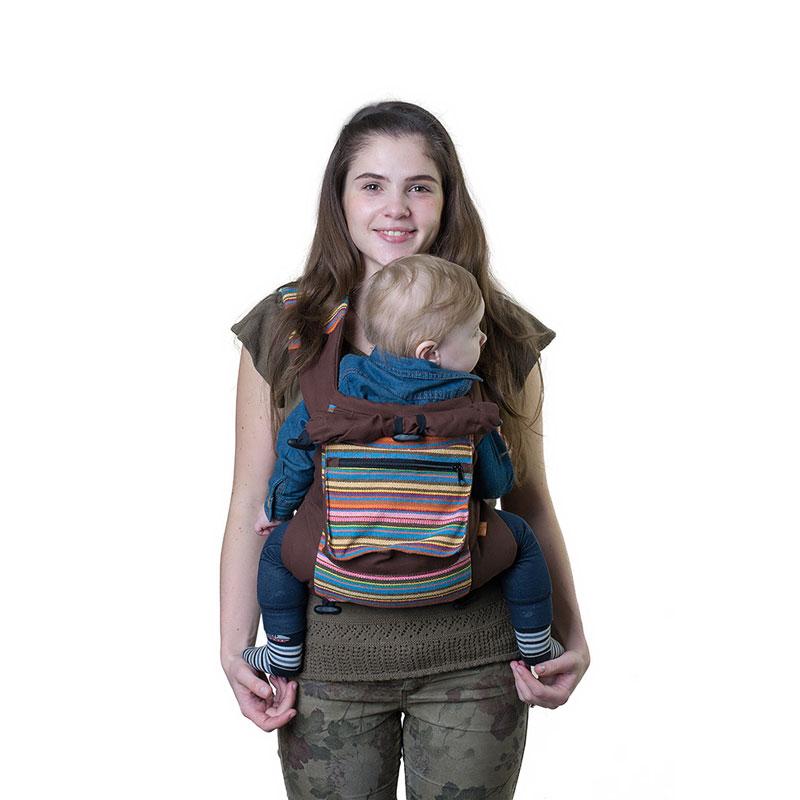 Слинг-рюкзак Чудо-Чадо  Уичоли , цвет: шоколадный - Рюкзаки, слинги, кенгуру
