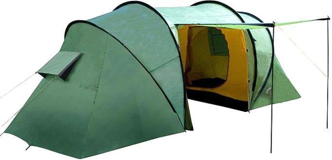 Палатка INDIANA TWIN 6360400002Шестиместная палатка Indiana TWIN 6 с большим тамбуром и антимоскитными сетками. Важным преимуществом качественной палатки является ее надежность и непритязательность в использовании.Размер: 570 x 220 x 200 см.