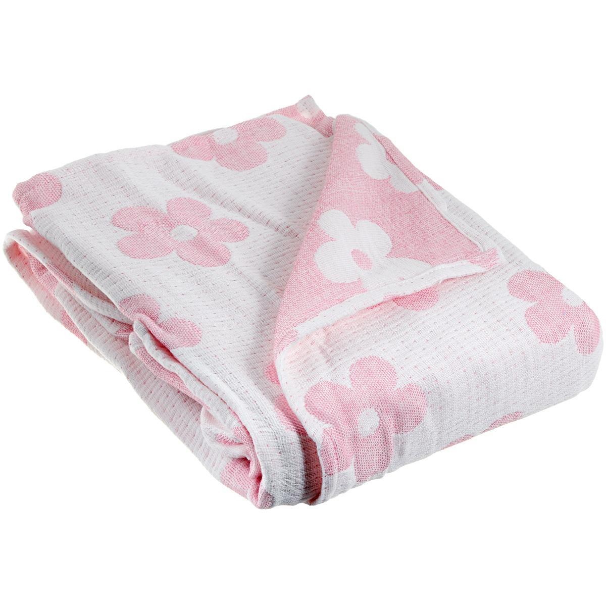 Плед-одеяло детский Baby Nice Цветы, муслиновый, цвет: розовый, 100 см x 118 смQ317475Муслиновый плед-одеяло Baby Nice Цветы, изготовленный из мягкого натурального 100% хлопка, оформлен цветочным рисунком. Плед-одеяло для новорожденных из мягкого и дышащего муслинового хлопка идеально подходит для комфортного сна малыша. Состоит из четырех слоев дышащего муслина, которые помогут сохранить тепло собственного тела ребенка, предотвращая перегревание. Благодаря особой технологии переплетения нитей и специальной отделки пряжи, муслиновый плед приобрел улучшенную мягкость и гигроскопичность. Легкий и дышащий, эластичный и практичный, такой плед хорошо пропускает воздух, впитывает влагу и прекрасно отдает тепло. Он создаст вашему малышу ощущение свежести и комфорта. Муслиновый плед сохраняет свои свойства даже после многочисленных стирок, быстро сохнет и не требует глажки. Во время прогулки такой плед послужит легким одеялом в коляску.