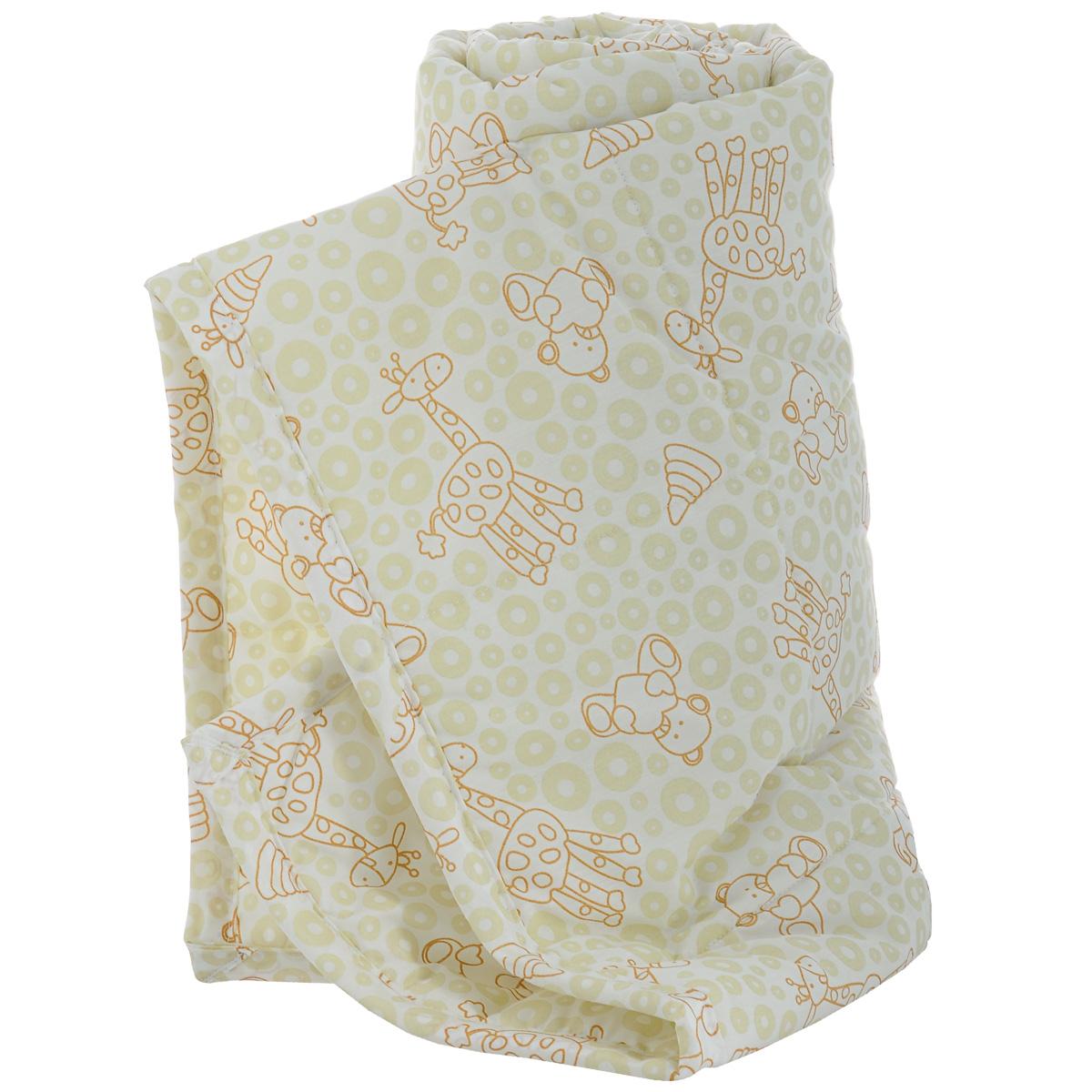 Одеяло детское Baby Nice Жирафы, стеганое, цвет: бежевый, 110 см x 140 см. Q0412323Q0412323
