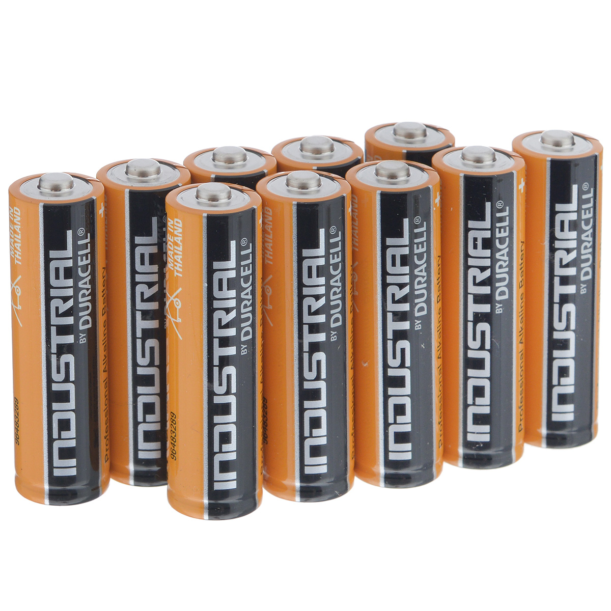 Батарейка алкалиновая Duracell Industrial LR6, тип АА, 1,5V, 10 шт5055398601020Батарейка алкалиновая Duracell Industrial LR6 предназначена для использования в приборах с высоким потреблением электроэнергии: фотоаппараты, плееры, фонари.