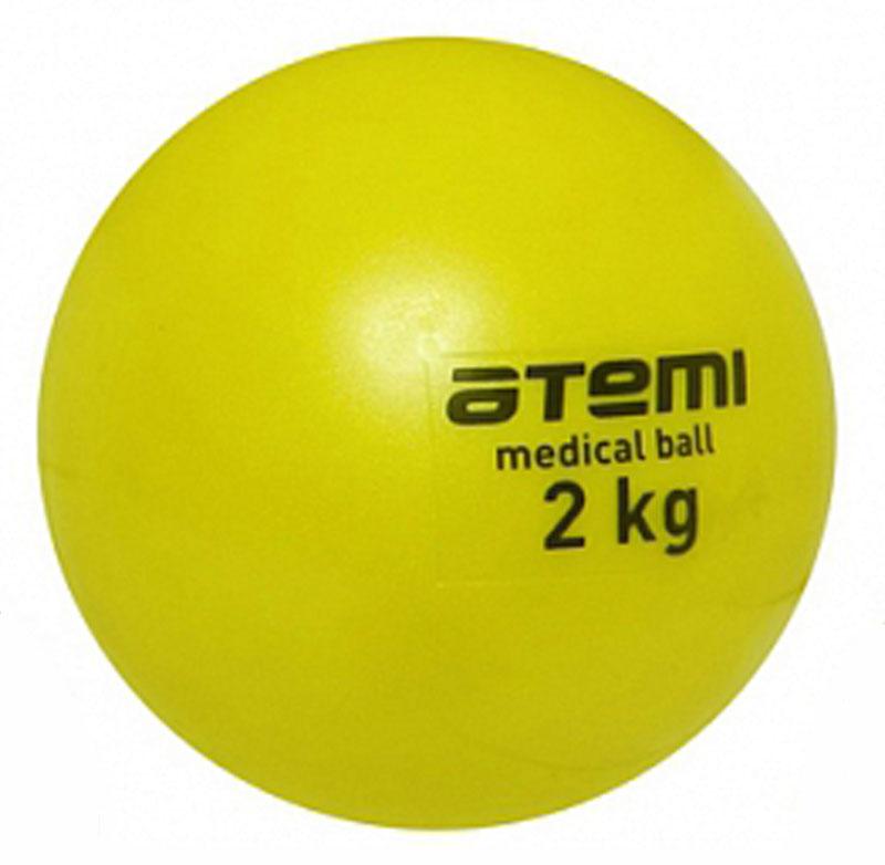 Медицинбол Atemi, цвет: желтый, диаметр 14 см, 2 кгWRA523700Мягкий, утяжеленный мяч Atemi небольшого диаметра. Одинаково хорошо подходит для тренировки силы, баланса и координации. Анти-скользящая поверхность. Изготовлен из мягкого и приятного на ощупь ПВХ. В наполнении мяча песок.