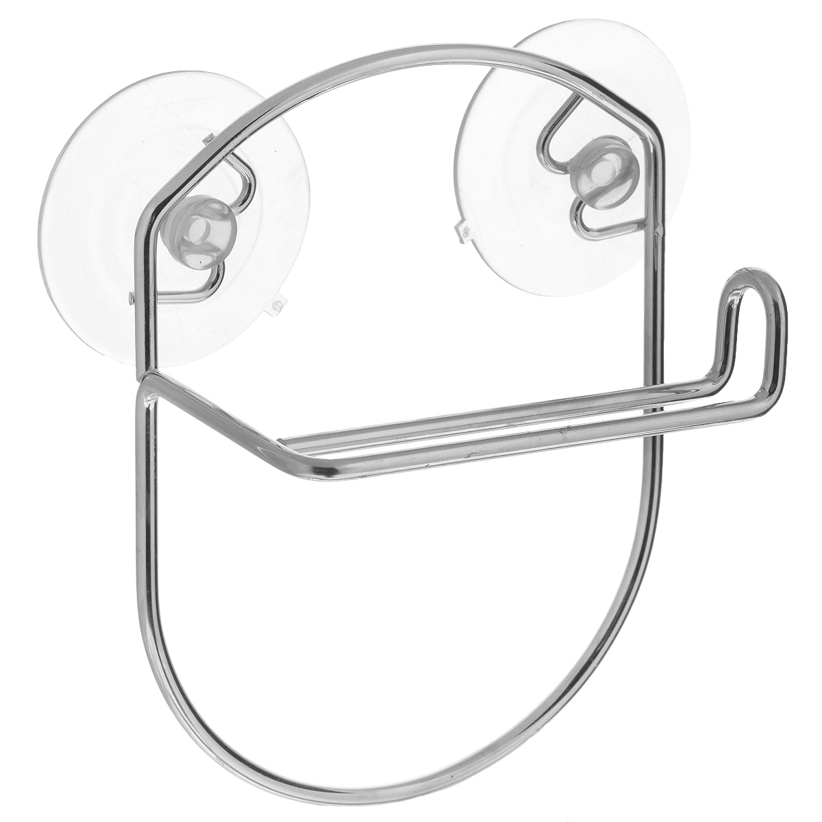 Держатель для туалетной бумаги LaSella, на присосках, цвет: металлик68/5/3Держатель для туалетной бумаги LaSella изготовлен из высококачественной стали с хромированным покрытием, которое устойчиво к влажности и перепадам температуры. Держатель поможет оформить интерьер в выбранном стиле, разбавляя пространство туалетной комнаты различными элементами. Он хорошо впишется в любой интерьер, придавая ему черты современности. Для большего удобства изделие крепится к поверхностям с помощью двух присосок из поливинилхлорида (входят в комплект), что дает возможность при необходимости менять их месторасположение. Размер держателя: 13,5 см х 17,5 см х 7 см. Диаметр присоски: 6,5 см.