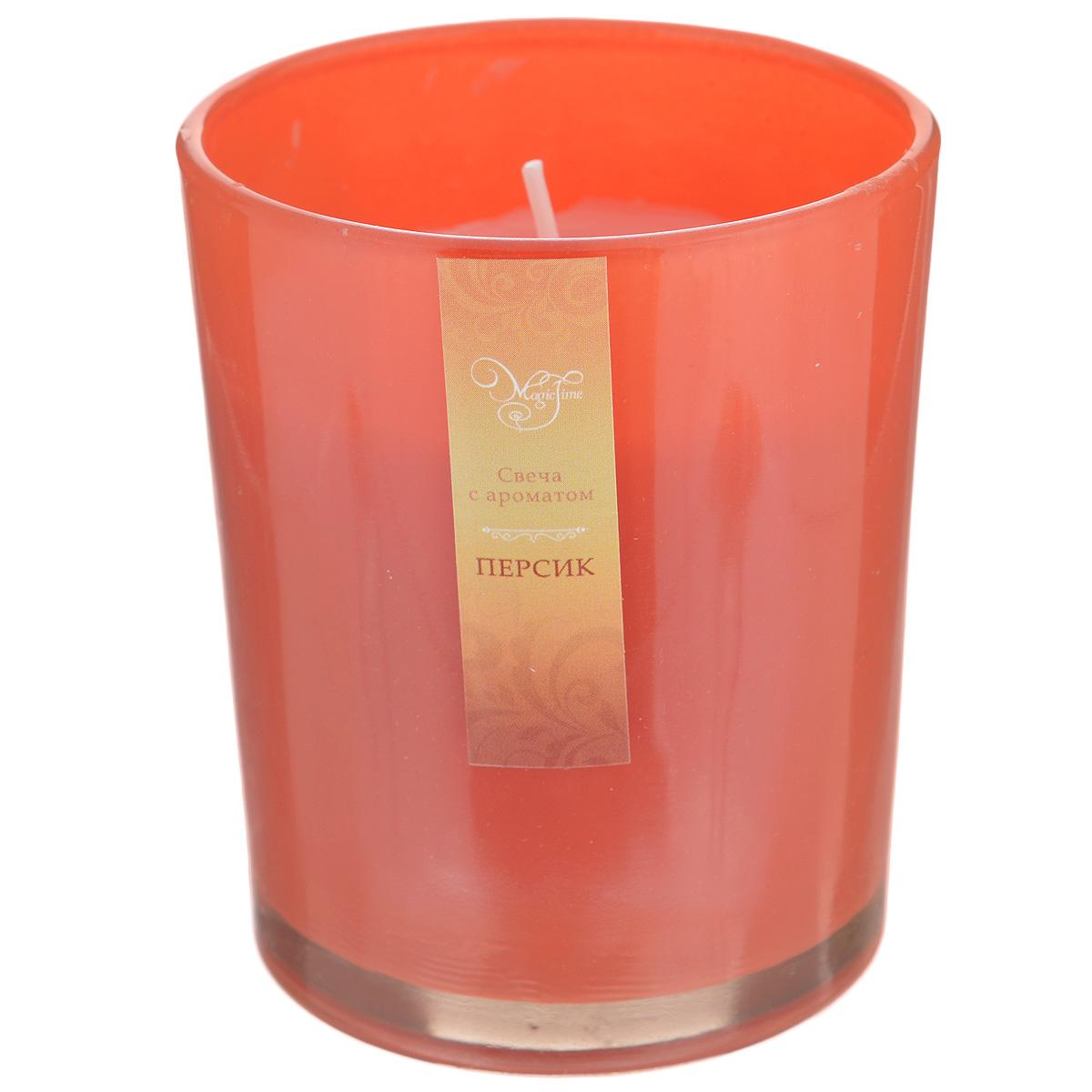 Свеча декоративная Феникс-презент Персик, ароматизированная842467Оригинальная ароматизированная свеча Феникс-презент Персик, изготовленная из парафина, помещена в стакан из матового стекла. Свеча наполнит вашу комнату приятным фруктовым ароматом и создаст в ней уютную атмосферу. Вы можете поставить свечу в любом месте, где она будет удачно смотреться и радовать глаз. Кроме того, эта свеча - отличный вариант подарка для ваших близких и друзей.
