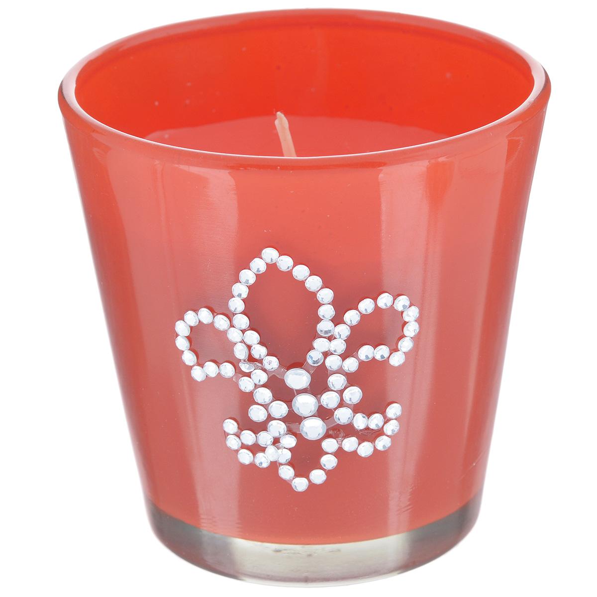 Свеча декоративная Феникс-презент Апельсин, ароматизированнаяES-412Оригинальная ароматизированная свеча Феникс-презент Апельсин, изготовленная из парафина, помещена в стакан из матового стекла, декорированный стразами. Свеча наполнит вашу комнату приятным цитрусовым ароматом и создаст в ней уютную атмосферу. Вы можете поставить свечу в любом месте, где она будет удачно смотреться и радовать глаз. Кроме того, эта свеча - отличный вариант подарка для ваших близких и друзей.