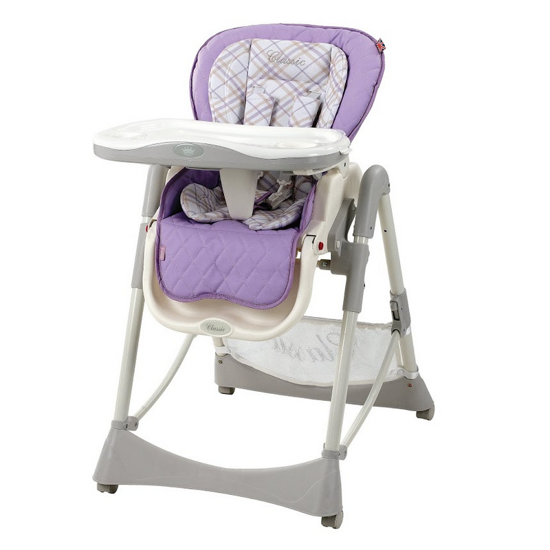 """Happy Baby """"William Lilac"""" - универсальный стульчик, который вы сможете настроить под своего малыша. Стульчик имеет комфортабельное сиденье с тремя регулируемыми положениями спинки и подножки, включая горизонтальное, что делает возможным использование даже для новорожденных. Съемный поднос и двойная регулируемая столешница изготовлены из термопластика (можно мыть в посудомоечной машине). Материал обивки - кожзаменитель с мягким текстильным вкладышем. Ножки с колесиками позволяют легко перемещать стульчик по дому. Безопасность малыша обеспечат ремни с фиксацией в пяти точках. Съемный чехол стульчика отлично поддается очистке. Стульчик имеет 5 уровней регулировки по высоте, а также оснащен большой корзиной для игрушек. В комплекте со стульчиком предусмотрена подробная инструкция по сборке на русском языке."""