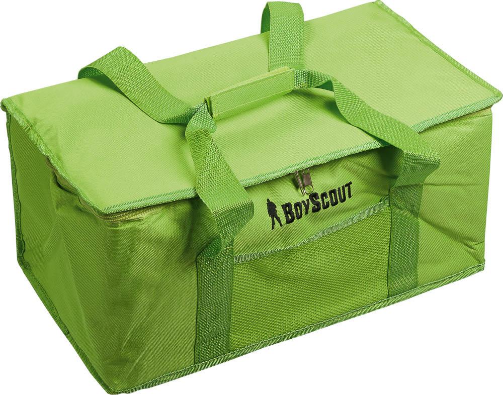 Термосумка Boyscout, 24 л96515412Термосумка Boyscout предназначена для транспортировки и хранения горячих и холодных продуктов. Сумка закрывается на застежку-молнию. Применяемые в изготовлении термосумки материалы и технологии позволяют сохранять продукты глубокой заморозки. Напитки остаются прохладными. Для наиболее продолжительного эффекта рекомендуется использовать хладоэлементы.Материал: полиэстер, вспененный полиэтилен, алюминиевая фольга.