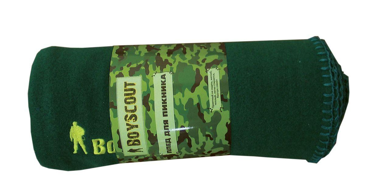 Плед для пикника Boyscout, цвет: зеленый, 150 см х 130 смSC-FD421004Плед Boyscout идеален для создания уюта на пикнике или в машине. Изготовлен из флиса. Приятный на ощупь, мягкий, теплый, легко стирается, быстро сохнет. Края обработаны.